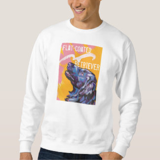 Flat-coated retriever dog breight pop art shirt