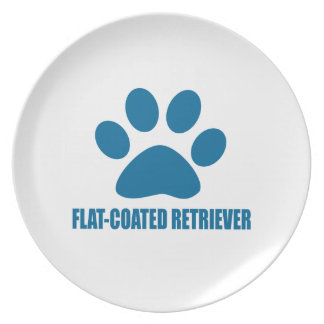 FLAT-COATED RETRIEVER DOG DESIGNS PLATE