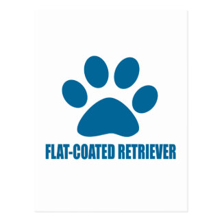 FLAT-COATED RETRIEVER DOG DESIGNS POSTCARD