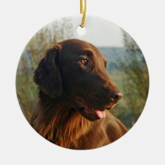 Flat Coated Retriever dog photo hanging ornament