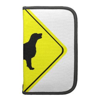 Flat Coated Retriever Dog Silhouette Crossing Sign Organizer