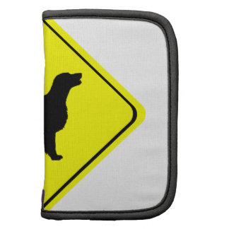 Flat Coated Retriever Dog Silhouette Crossing Sign Planner