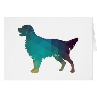 Flat-coated Retriever Geometric Silhouette Green Card
