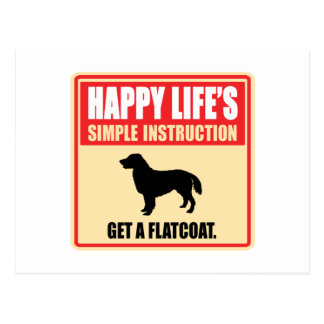 Flat-Coated Retriever Post Card