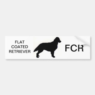Flat-Coated Retriever silo Bumper Sticker