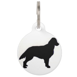 Flat-Coated Retriever silo Pet Name Tag