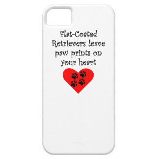 Flat-Coated Retrievers Leave Paw Prints On Your He iPhone 5 Case