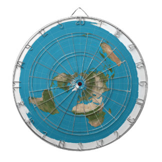 Flat Earth AE Azimuthal Projection Map Dartboard