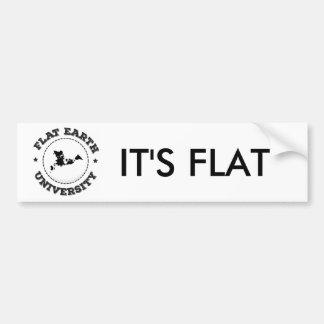 Flat Earth -- Bumper Sticker