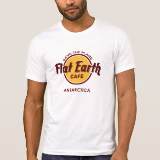 Flat Earth Cafe - SAVE THE PLANE - Antarctica T-Shirt