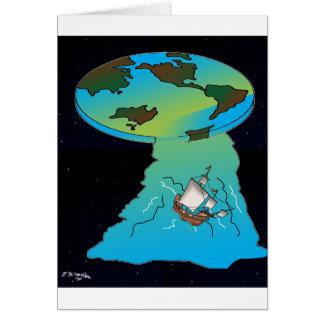 Flat Earth Cartoon 7540 Card