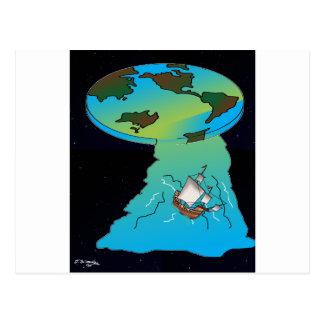 Flat Earth Cartoon 7540 Postcard