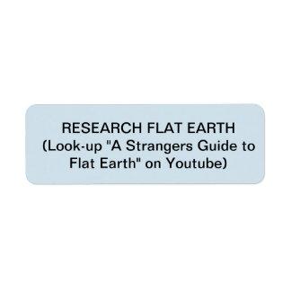 FLAT EARTH CIGARETTE LIGHTER STICKERS RETURN ADDRESS LABEL