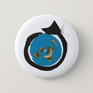 Flat Earth Designs - CAT MAP CLASSIC 2 Inch Round Button