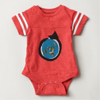 Flat Earth Designs - CAT MAP CLASSIC Baby Bodysuit