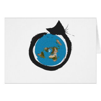 Flat Earth Designs - CAT MAP CLASSIC Card