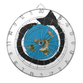 Flat Earth Designs - CAT MAP CLASSIC Dartboard