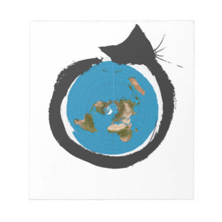 Flat Earth Designs - CAT MAP CLASSIC Notepad