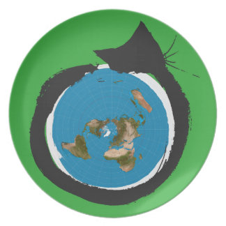Flat Earth Designs - CAT MAP CLASSIC Plate