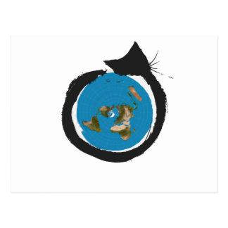 Flat Earth Designs - CAT MAP CLASSIC Postcard