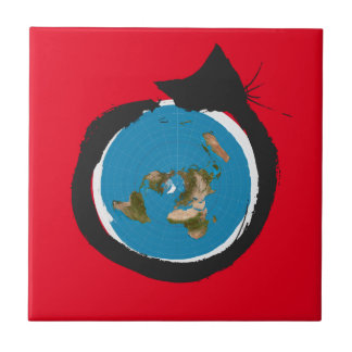 Flat Earth Designs - CAT MAP CLASSIC Tile