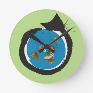 Flat Earth Designs - CAT MAP CLASSIC Wall Clocks