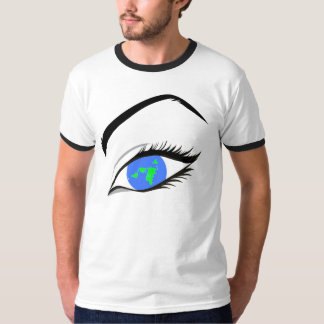 Flat Earth Eye Map - Azimuthal Projection T-Shirt