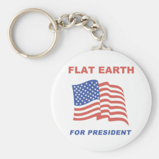 Flat Earth for President Basic Round Button Keychain