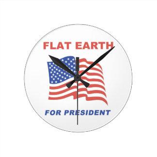 Flat Earth for President Clock