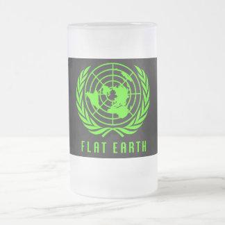 Flat Earth Frosty Beer Stein Mug