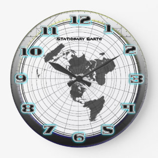 Flat Earth Gleasons Stationary Map of the World Large Clock