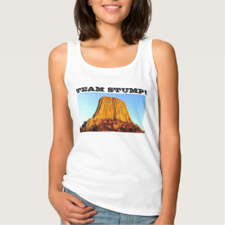 Flat Earth Has No Forests Team Stump! Women's Tank