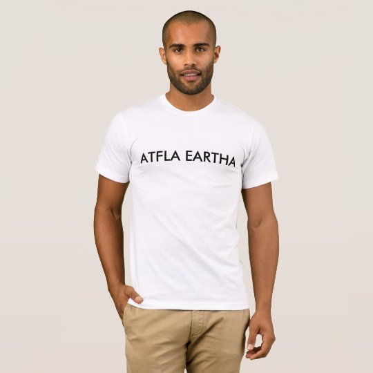 Flat Earth in Igpay Atinlay T-Shirt