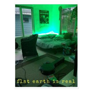 flat earth is real postcard