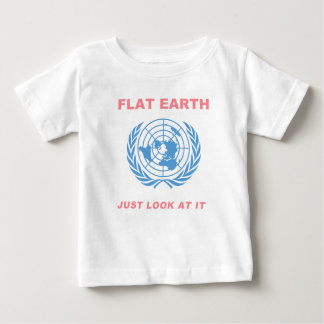 Flat Earth - Just Look At It Baby T-Shirt