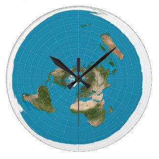 flat earth large clock