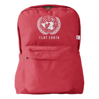 FLAT EARTH MAP - awesome red backpack
