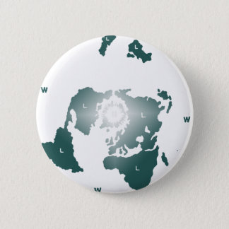 Flat Earth Map, Azimuthal Equidistant Map Zetetic 2 Inch Round Button