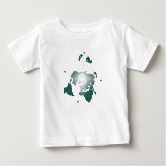Flat Earth Map, Azimuthal Equidistant Map Zetetic Baby T-Shirt