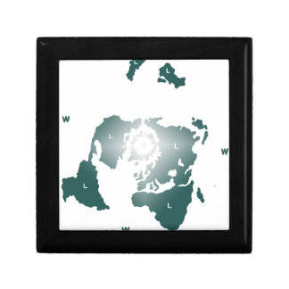 Flat Earth Map, Azimuthal Equidistant Map Zetetic Gift Box