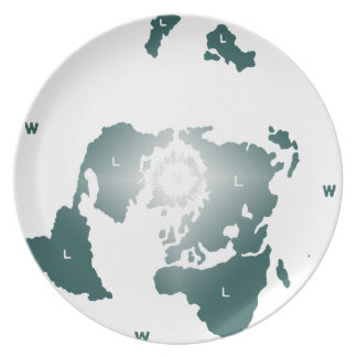 Flat Earth Map, Azimuthal Equidistant Map Zetetic Plate
