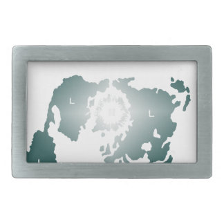 Flat Earth Map, Azimuthal Equidistant Map Zetetic Rectangular Belt Buckles