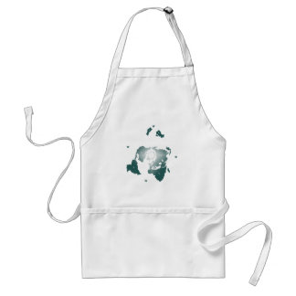 Flat Earth Map, Azimuthal Equidistant Map Zetetic Standard Apron