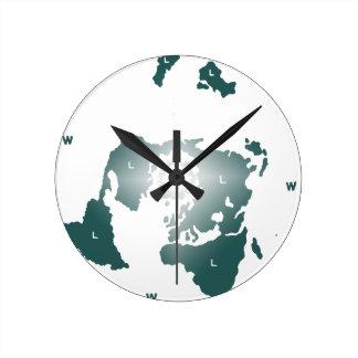 Flat Earth Map, Azimuthal Equidistant Map Zetetic Wall Clocks