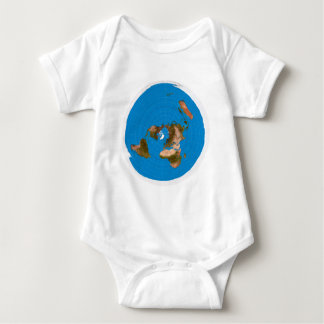 Flat Earth Map - Azimuthal Equidistant Projection Baby Bodysuit