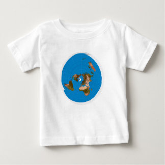Flat Earth Map - Azimuthal Equidistant Projection Baby T-Shirt