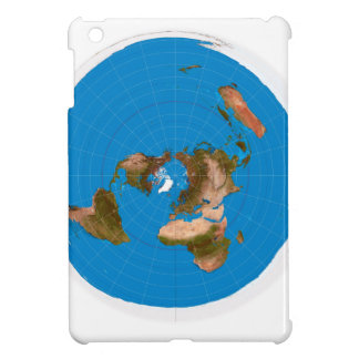Flat Earth Map - Azimuthal Equidistant Projection iPad Mini Covers