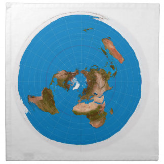 Flat Earth Map - Azimuthal Equidistant Projection Napkin