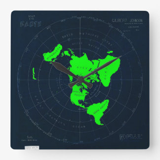 Flat Earth Map Disk Clock