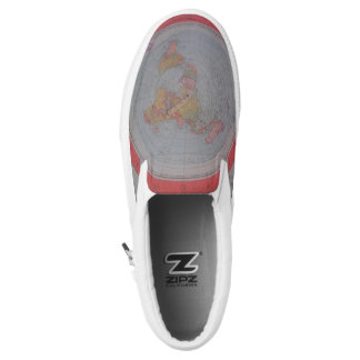 Flat Earth Map Slip-On Sneakers